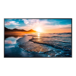 "Samsung QH43R - 43"" Diagonal Class QHR Series LED display - digital signage - Tizen OS 4.0 - 4K UHD (2160p) 3840 x 2160 - edge-lit"