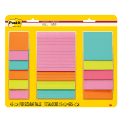 Post-it Notes Super Sticky Notes, 5 Pads/Pack, 45 Sheets/Pad