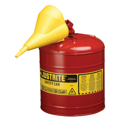 Justrite® Type I Safety Can For Flammables, 2.5 Gallon, Red