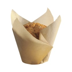 Hoffmaster Tulip Baking Cups, Large, Natural, Case Of 1,000 Cups