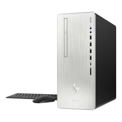 HP ENVY 795-0020 Desktop PC, 8th Gen Intel® Core™ i7, 12GB Memory, 1TB Hard Drive/256GB Solid State Drive, Windows® 10 Home, Radeon RX 550