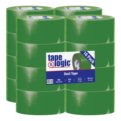 "Tape Logic® Color Duct Tape, 3"" Core, 3"" x 180', Green, Case Of 16"