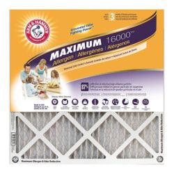 """Arm & Hammer Maximum Allergen & Odor Reduction Air Filters, 24""""H x 24""""W x 1""""D, Pack Of 4 Air Filters"""