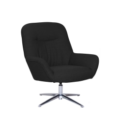 Serta® Reagan Collaboration Lounge Chair, Charcoal Champion/Silver