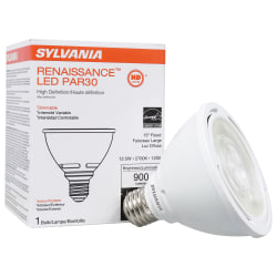 Sylvania LEDvance Renaissance PAR30 Short Dimmable 900 Lumens LED Light Bulbs, 12.5 Watt, 2700 Kelvin/Warm White, Case of 6 Bulbs