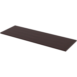 "Lorell® Quadro Sit-To-Stand Laminate Table Top, 72""W x 24""D, Espresso"