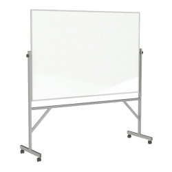 """Ghent Reversible Magnetic Whiteboard, 48"""" x 72"""", Silver Aluminum Frame"""