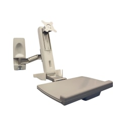 """Amer AMR1WS - Mounting kit (articulating arm, wall mount) for monitor / keyboard - plastic, steel, aluminum alloy - screen size: up to 24"""" - wall-mountable"""