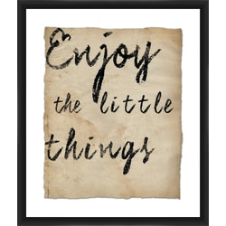 """PTM Images Framed Wall Art, Little Things, 25 1/2""""H x 21 1/2""""W"""