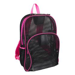 Eastsport Sport Mesh Backpack, Black/Pink