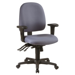 "Office Star™ Work Smart Ergonomic Multifunction High-Back Chair, 38-1/4""H, Gray/Black"