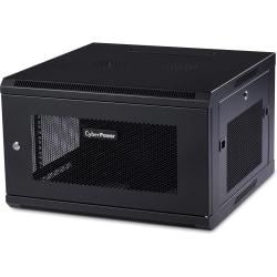 "CyberPower EIA-310 Standard 19"" Rack - For LAN Switch, Patch Panel - 6U Rack Height x 19"" Rack Width x 22.30"" Rack Depth - Wall Mountable - Black Powder Coat - Metal - 132.30 lb Static/Stationary Weight Capacity"