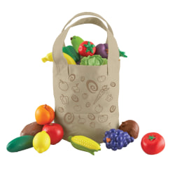 Learning Resources New Sprouts® Fresh Picked Fruit And Veggie Tote Set, Pre-K To Grade 2