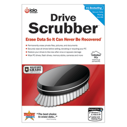 DriveScrubber - Erase Data So It Can NEVER Be Recovered ™