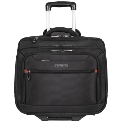 "Heritage Travelware Streeterville Computer Portfolio & Overnighter With 17"" Laptop Pocket, Black"