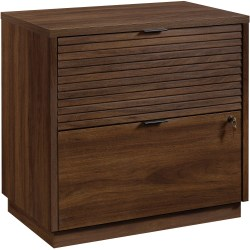 "Sauder® Englewood 31""W Lateral 2-Drawer File Cabinet, Spiced Mahogany"