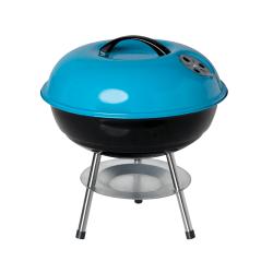 """Orbit Portable BBQ Grill, 14"""", Black/Teal"""