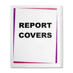 """C-Line® Clear Report Covers, 8 1/2"""" x 11"""", Box Of 100"""