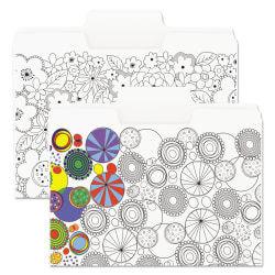 Smead® SuperTab™ Coloring File Folders, Letter Size, White, Pack Of 6 Folders