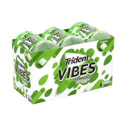 Trident® Vibes Spearmint Sugar-Free Gum, 40 Pieces Per Pack, Carton Of 6 Packs
