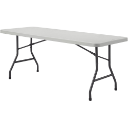 Lorell® Ultra-Lite Economy Folding Table, 8'W, Gray