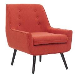 Linon Raelynn Chair, Pimento/Dark Espresso