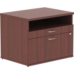 Lorell® Relevance Series Open Credenza File Cabinet, Mahogany