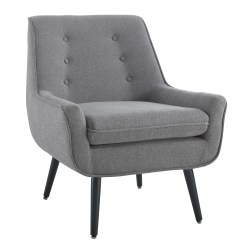 Linon Guthrie Accent Chair, Gray/Chrome