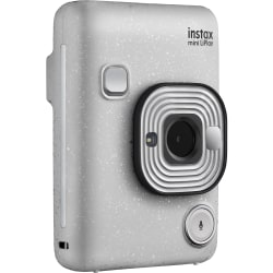 "instax mini LiPlay Instant Digital Camera - Stone White - 2.7"" LCD - 2560 x 1920 Image"