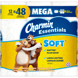 Charmin® Essentials® Soft 2-Ply Toilet Paper, 352 Sheets Per Roll, Pack Of 12 Rolls