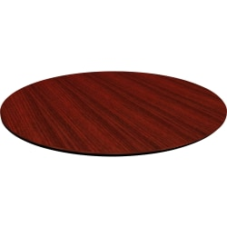 "Lorell® Laminate Knife-Edge Round Conference Table Top, 48""W, Mahogany"