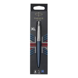 Parker Jotter XL Ballpoint Pen, Primrose Matte Blue, Chrome Trim, Medium Point, Blue Ink