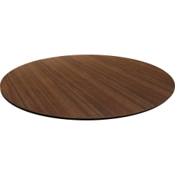 """Lorell® Laminate Knife-Edge Round Conference Table Top, 42""""W, Walnut"""
