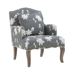 Linon Caroline Arm Chair, Gray Floral