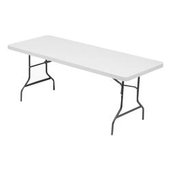 "Lorell® 72""W Rectangular Banquet Table, Gray"