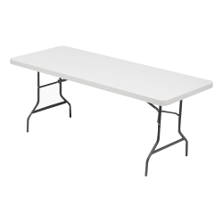 Lorell® Banquet Folding Table, Rectangle, 6'W, Gray