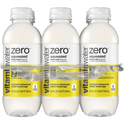 Vitaminwater Zero Sports Drinks, Squeezed, 16.9 Oz, Pack Of 6
