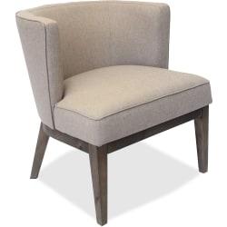Lorell® Linen Fabric Accent Chair, Beige/Walnut