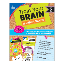 Carson Dellosa Education Train Your Brain: Number Sense Level 2 Classroom Kit, Grade K-2
