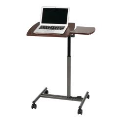 "Realspace® 20""W Metal Dual-Surface Laptop Cart, Brown"