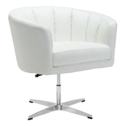 Zuo® Modern Wilshire Occasional Chair, White/Chrome