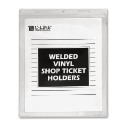 "C-Line® Vinyl Shop Ticket Holders, 9"" x 12"", Box of 50"