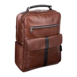 "McKleinUSA Logan Backpack With 17"" Laptop Pocket, Brown"