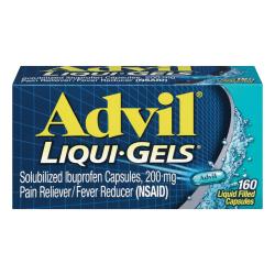 Advil® Liqui-Gels Pain Reliever/Fever Reducer Capsules, Box Of 160