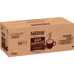 Nestle® Rich Hot Chocolate Packets - Powder - Hot Chocolate, Cream Flavor - 0.17 oz - Packet - 300 / Carton