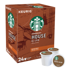 Starbucks® House Blend Coffee Single-Serve K-Cup®, 0.42 Oz, Carton Of 24