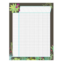 """Barker Creek Incentive Charts, 22"""" x 17"""", Multicolor, Pack Of 6 Charts"""