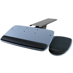 """Mount-It MI-7137 Adjustable Keyboard And Mouse Tray, 20-1/2"""", Blue"""