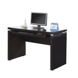 Monarch Specialties Computer Desk With Keyboard Tray, Cappuccino