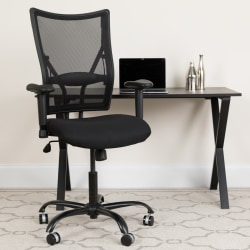 Flash Furniture HERCULES Ergonomic Mesh High-Back Big And Tall Swivel Chair With Adjustable Arms, Black